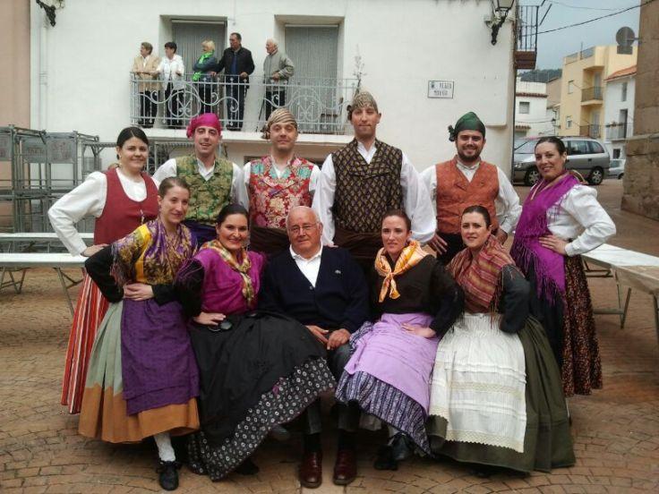 Los miembros del cuadro con el Presidente Honorífico Angel Iranzo en Arañuel